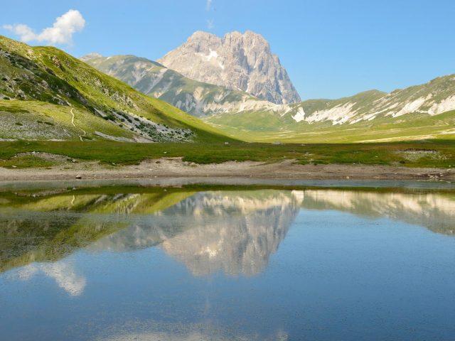 The lake of Pietranzoni